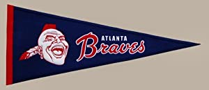 Atlanta Braves Cooperstown Collection Wool Blend MLB Baseball Pennant