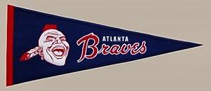 Atlanta Braves Cooperstown Collection Wool Blend MLB Baseball Pennant by Winning Streak Sports