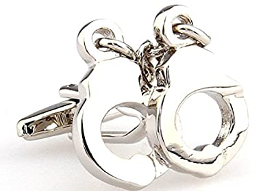 Handcuffs Cufflinks with a Presentation Gift Box