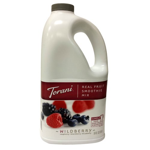 Torani Wildberry Real Fruit Smoothie Mix, Two 64 Oz. Jugs front-84021