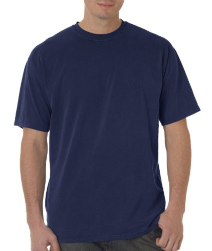 Chouinard 9030 Men's Crew Heavyweight Cotton Tee Shirt XL Navy Pgmdye
