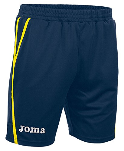 Joma Game Shorts Unisex Adulto, Multicolore (Marino/Giallo), M