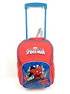 Marvel Spiderman Boys Wheeled Bag Travel Hand Luggage Cabin Suitcase Holiday New