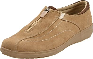Grasshoppers Women's Stetch Plus Slip-On,Taupe,10 N US