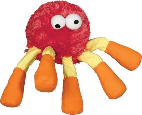 Leggy Buggz Dog Squeak Toy - Red