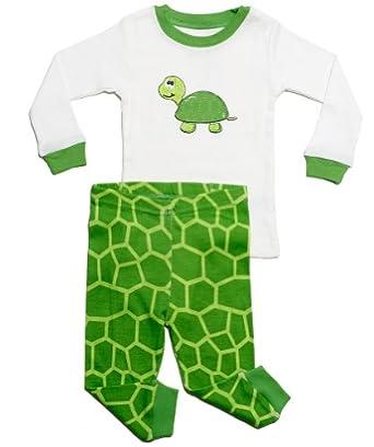 "Leveret ""Turtle"" 2 Piece Pajama (3 Toddler)"