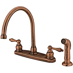 KINGSTON BRASS KB726ALSP Kitchen Faucet, Antique Copper