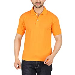 Garudaa Garments Men's Orange T Shirt
