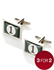 Racing Green Cufflinks