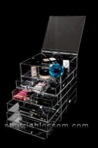 Amazon.com: Icebox Skinny - Celebrity Brand Acrylic Makeup Organizer: Beauty