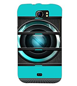 PrintDhaba Speaker D-3493 Back Case Cover for MICROMAX A110 CANVAS 2 (Multi-Coloured)