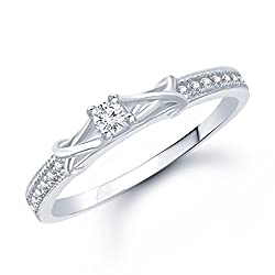 Vk Jewels Fancy Silver Cz Rhodium Plated Ring For Women - Fr1049R Size 12 [Vkfr1049R12]