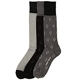 3-Pairs Mens Noble Mount Combed Cotton Dress Socks - Set A13