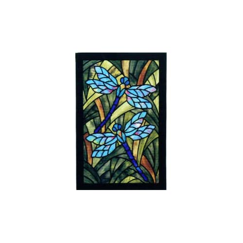 Amazon Com 5058 Pt Dragonfly Garden Stained Glass Quilt
