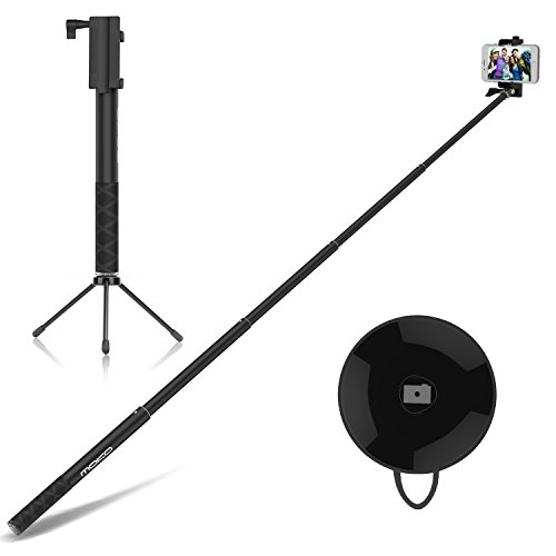 Selfie Stick with Bluetooth Remote & Tripod St…