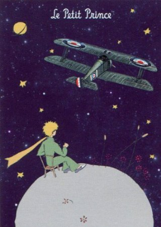 ditions Clouet 29219 - Poster, motivo: Le Petit Prince con aereo