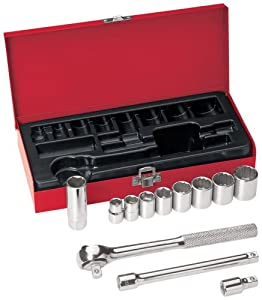 Klein Tools Tools 65504 3/8-Inch Drive Socket Wrench Set, 12-Piece