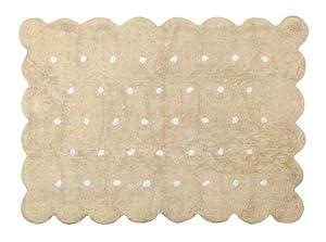 Aratextil. Alfombra Infantil 100% Algodón lavable en lavadora Colección Cookie Beige 120x160 cms por Aratextil Hogar 26 S.L.