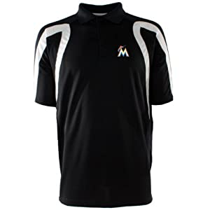 Miami Marlins Point Polo Shirt (Team Color) by Antigua