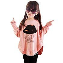 Little Hand Kids Girls Tops Dolman Shirts Batwing Sleeve T-shirts 3-8 Years 5...