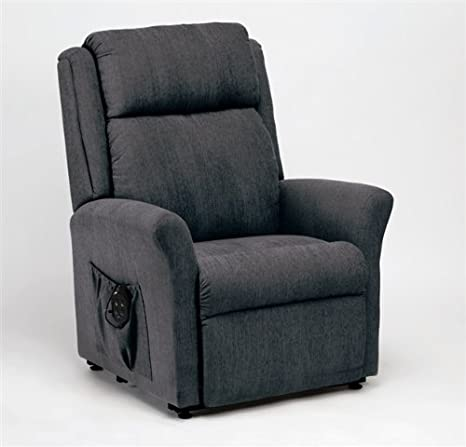 Memphis Petite Rise And Recline Armchair in Charcoal (Dual Motor Lift and Tilt, Riser Chair)