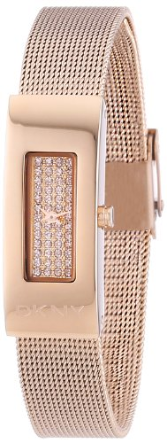DKNY NY2111 Ladies Astoria Rose Gold Tone Mesh Bracelet Watch