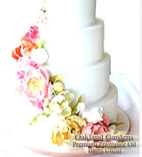 WEDDING CAKE Fragrance Oil - 100% Premium Grade Uncut Oil - Elegant blend of cane sugar, moist vanilla cake with creamy white frosting - BULK Fragrance Oil By Oakland Gardens (060 mL - 2.0 fl oz Bottle)