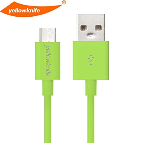 yellowknife Hi-Speed Extra Long (6.5 Ft/2m) USB 2.0 to Micro USB Charging/Sync Data Cable For Android, Samsung, Kindle Fire, HTC, Motorola, Sprint, Nokia, LG, Hewlett-Packard, Sony ,Blackberry,S4, Xbox one (Green)