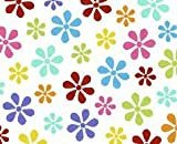 SheetWorld Fitted Pack N Play (Graco Square Playard) Sheet - Primary Colorful Floral Woven - Made In USA