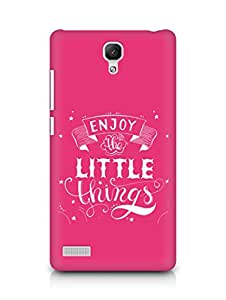 AMEZ enjoy the little things 2 Back Cover For Xiaomi Redmi Note