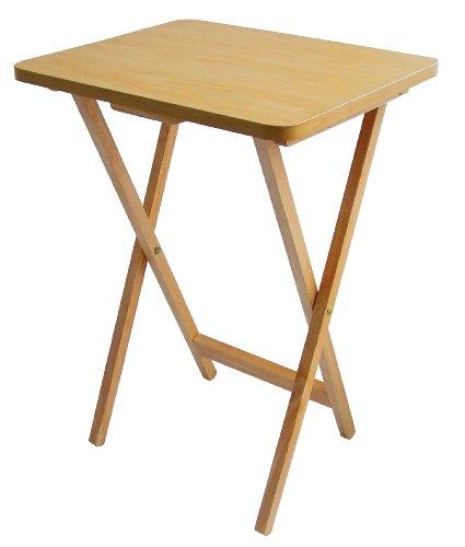 Premier Housewares - Mesa auxiliar plegable de madera, 49 x 39 x 65�cm, color marr�n claro