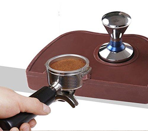 Espresso Tamping Mat Tamper Holder Dropped Edge Corner Silicone Non-Slip Barista (Expresso Tampers compare prices)