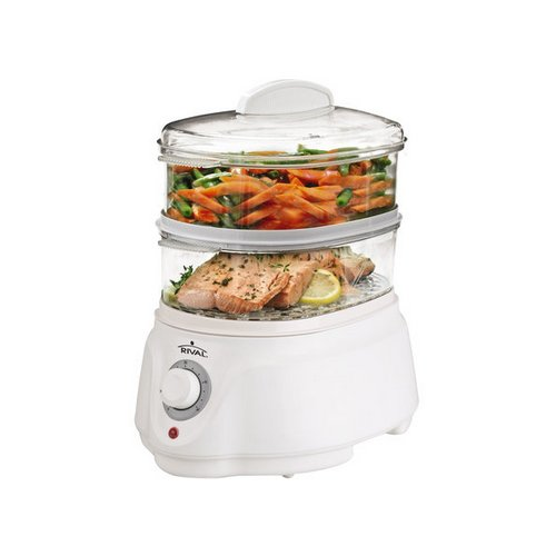 Review Rival CKRVSTLM21 Food Steamer, White