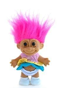 """My Lucky Sundress 6"""" Troll Doll - Hot Pink"""