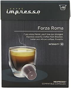 Shop for Caffe Impresso Forza Roma Nespresso Compatible Capsules (Pack of 4, Total 40 Capsules) by United Kingdom