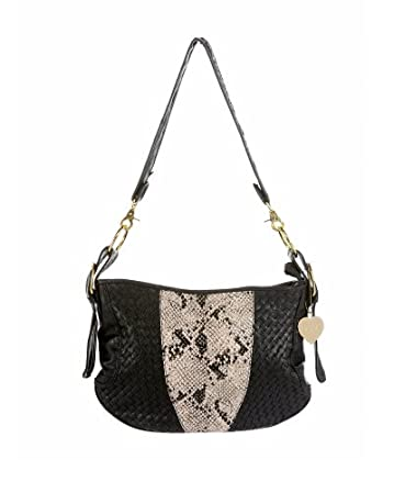 bebe.com Woven Snake Hobo :  handbag shoulder bag bag accessories