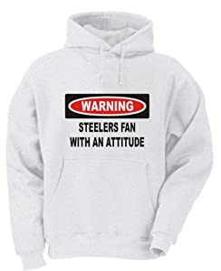 Warning: Steelers Fan with an Attitude Youth Hooded Sweatshirt (for Kids) in Various Colors