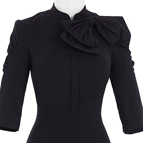 Belle Poque Women 50s Bodycon Dress Slim Vintage Pencil Dress BP106/146 5