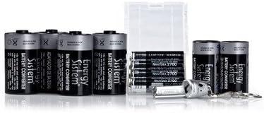 Energy Sistem NNatura 2700 Converter - Batería/Pila recargable (Níquel-Hidruro metálico (NiMH), 2700 mAh, 1.2 V, Negro, Plata)