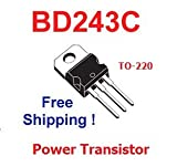 5 pcs of BD243C Power Transistor TO-220 NEW - Free Shipping