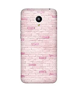 Pink Bricks Printed Back Cover Case For Meizu M2