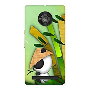 AJAYENTERPRISES White pand Sit Back Case Cover for Yu Yunique