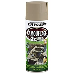 Rust-Oleum 279177 Specialty Camouflage Ultra Cover 2X Spray Paint, 12-Ounce, Khaki