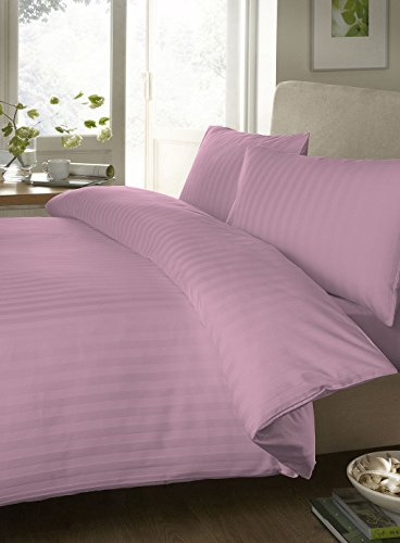 """Egyptian Cotton Fitted Sheet With 28"""" Deep Pocket 550 Thread Count Stripe ( Short Queen , Pink ) By Bedding Spa front-486665"""
