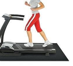 Rubber Cal Treadmill Mat, 3/16-Inch x 4 x 7.5-Feet/Black