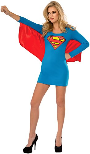 Rubie's Costume Co Women's DC Superheroes Supergirl Cape Dress