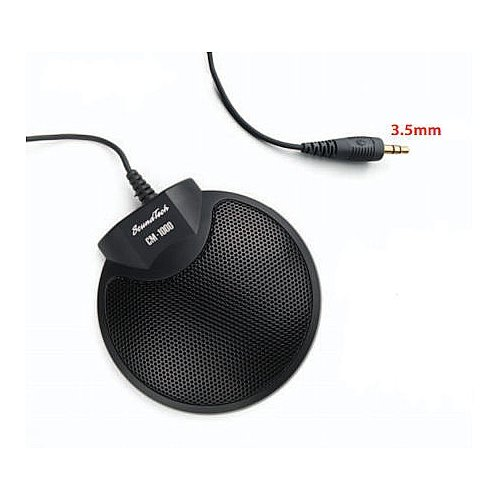 Sound Tech Cm-1000 Table Top Conference Meeting Microphone With Omni-Directional Stereo 3.5Mm Plug