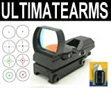 Ultimate Arms Gear Tactical CQB 4 Reticle Dual Red / Green Open Reflex Sight with Weaver-Picatinny Rail Mount