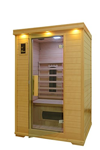 Home-Life-fursaunakn-002aFBA-2-Person-Wood-Far-Infrared-Sauna-5-300W1500W-Heaters-48-x-42-x-75-Brown