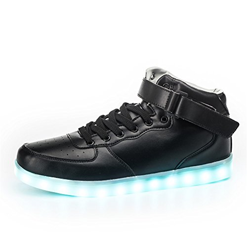 SanYes-Women-Men-Unisex-High-Top-USB-Charging-Light-Up-LED-Shoes-Flashing-Sneakers